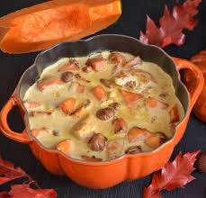 cuisiner un potiron blanquette de dinde marrons et potiron