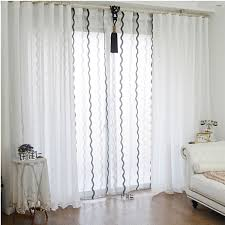 decoration ideas chic white linen and sheer curtains for bedroom