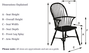 Armchair Measurements Windsor Chairs Oak And Ash Traditionally Handmade In England