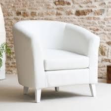 fauteuil simili cuir blanc fauteuil cabriolet simili cuir blanc