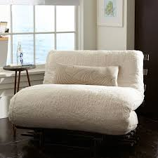 dorm room sofa sherpa faux fur fleece futon pbteen