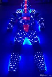 glow show led robot suit costume leds party show glow lights robots