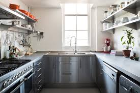 stainless steel kitchen cabinets kitchen contemporary with flat