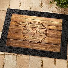 engraved wedding gifts personalized wedding doormat circle of recycled rubber