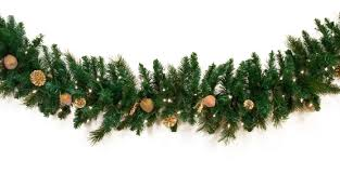 decorative garland harvest gold deluxe prelit garland