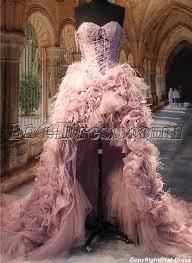 ostrich feather l shade luxury ostrich feather high low wedding dresses 1st dresscom