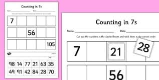 Counting By 7s Song Counting In 7s Primary Resources Number Line Page 1
