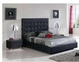 bedroom cool incredible black tufted headboard platform king