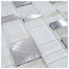 glass tile kitchen backsplashes pictures metal and white 12 x12 metal stone glass mosaic kitchen backsplash bathroom tile