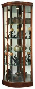 glass corner curio cabinet howard miller 680 529 marlowe corner curio cabinet the clock depot