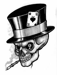 black hat skull tattoo design in 2017 real photo pictures