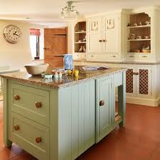 soft green and cream traditional kitchen ideal home