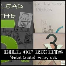 us constitution bill of rights student created gallery walk