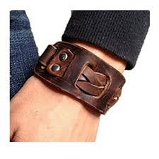 leather wrist bracelet images Antique men 39 s brown leather cuff bracelet leather jpg