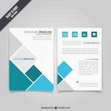 business brochure with squares vector free download