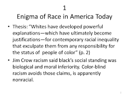 What Is Color Blind Racism Notes From Racism Without Racists Color Blind Racism And The