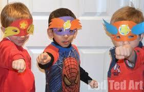 superhero masks template party activity