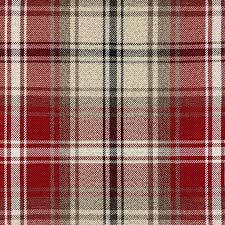 Tartan Drapes Mcalister Textiles Angus Woven Wool Feel Red Tartan Curtains U2013 Uk