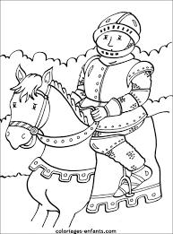 les coloriages de chevaliers à imprimer