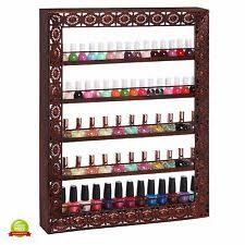 Nail Varnish Cabinet Salon Vintage Wall Mounted 5 Tier Metal Nail Polish Cosmetic