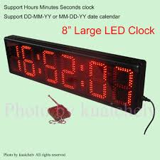 large countdown clock 8 high character operated by remote