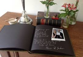 large wedding guest book 5 ideas for personalising your wedding guest book the bindery