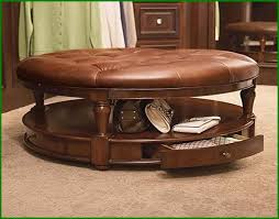 Brown Leather Ottoman Furniture Beautiful Coffee Table Ottoman Sets For Living Room