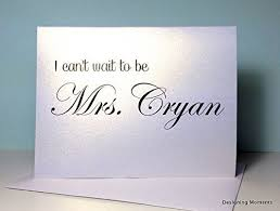 card to groom from personalized card for groom i can t wait to be mrs