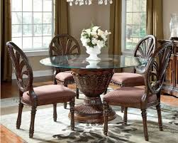traditional round glass dining table dining table set glass top farishweb com