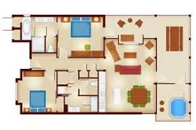 Cabin Floorplan Copper Creek Villas And Cabins At Disney U0027s Wilderness Lodge Rooms