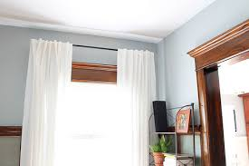 White Curtains With Blue Trim Decorating Why I Ll Never Paint Our Wood Trim Decor Adventures