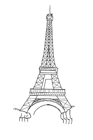 drawn eiffel tower template pencil and in color drawn eiffel
