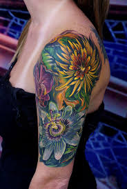large flower tattoo designs best 25 yellow flower tattoos ideas that you will like on