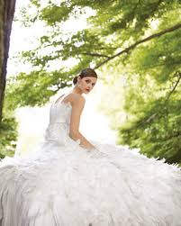outdoor wedding dresses gowns for an outdoor wedding martha stewart weddings