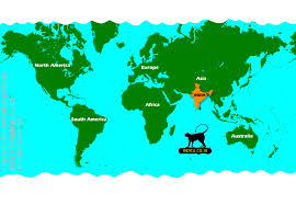 australia world map location where is india location of india on world map