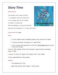 rainbow fish worksheets heart kinder kids rainbow fish