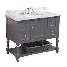 kitchen bath collection vanities beverly 42 inch vanity carrara charcoal gray kitchenbathcollection