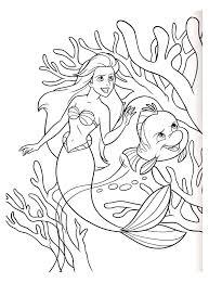 Ariel petite sirene disney 18  Coloriage La petite Sirène Ariel
