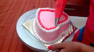 Decoration Of Cakes At Home by Anniversary Cake Easy Cake Recipe Heart Shaped Sponge Cake
