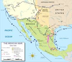 Mexico City On Map by The Mexican American War General Asians State Spanish