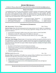 Chef Resume Samples Emejing Culinary Resume Templates Pictures Podhelp Info