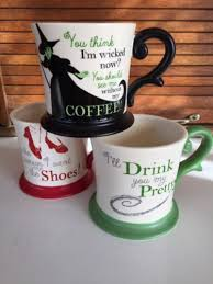 Pretty Mugs Set Of Three Wizard Of Oz Coffee Mugs Rare Wicked Witch Ruby