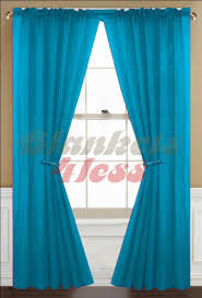 Blue Window Curtains by Amazon Com Awad Home Fashion 2 Panels Solid Neon Turquoise Sheer
