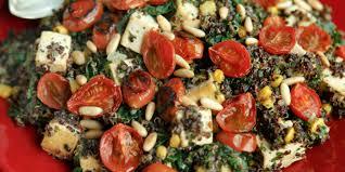 quinoa with roasted tomatoes kale and tofu oregonian recipes