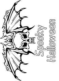 childscary skeleton coloring pages kids clip art library