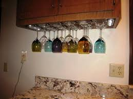 under cabinet wine glass rack in hanging designs u2014 wow pictures