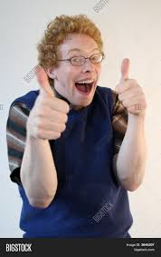 Thumbs Up Meme - nerd giving energetic thumbs image photo bigstock