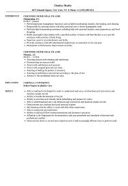 home health aide resume certified home health aide resume sles velvet