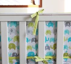 Green Elephant Crib Bedding Ligth Green Elephants Baby Boy 5pc Crib Bedding Set Embroidered