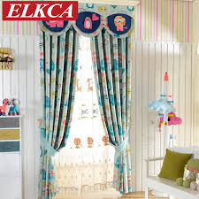 Boys Room Curtains Double Sided Cartoon Printed Blackout Curtains For Kids Room